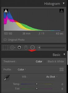 Using the radial filter